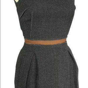 D&G light Grey Ruffle back Dress